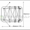 Схема тентовой арочной беседки