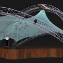 Вид сбоку на мембранную конструкцию Дабл Арка