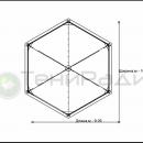 Схема тентового шатра Капелла Секта площадью 65м2 со стороной 5м.