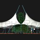 Длина мембранной конструкции Карамба достигает 29 метров, ее легко можно использовать для укрытия кафе или ресторана
