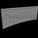 Боковое ограждение и тентового ПВХ материала на тросовых карнизах. Входит в базовый комплект системы конструкций для летних кафе серии