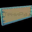 Боковое декоративное ограждение на основе алюминиевой цельносварной рамы с прозрачной вставкой из монолитного поликарбоната на дистанционных держателях.