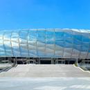 Пример мембранного модульного фасада спортивного объекта. Ячеистая структура.
