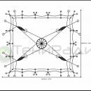 Тентовый шатер Гранд Канопи, схема конструкции.