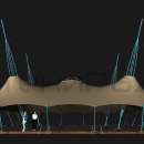 Тентовый шатер Гранд Канопи, вид сбоку.