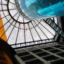Тканевое оформление стеклянного купола, закрывающего внутренний объем здания.