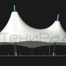 Мембранная конструкция Корсика 2.0. Фасадный вид.