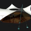 Выразительная мембранная конструкция в форме звезды