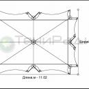 Схема тентового шатра Сегестрия площадью 67м2.