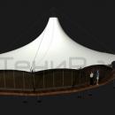 Недорогая мембранная конструкция овальной формы