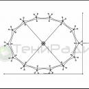 Схема крепежа мембранной оболочки к металлической опоре конструкции