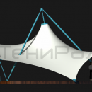 Мембранная каркасно-тентовая конструкция Стабила, вид сбоку.