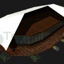 Тентовый павильон архитектурного исполнения Тортуга.
