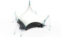 Мембранная конструкция Бас Шатыр, вид изометрический.