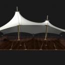 Шатровая мембранная конструкция Корсика, состоящая из двух соединенных куполов разной величины
