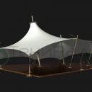 Уютная шатровая мембранная конструкция Корсика, для проведения различных мероприятий