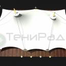Шатровая мембранная конструкция Корсика, вид сверху