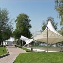 Конструкция Трилакс идеально подходит для загородных клубов и частных резиденций в качестве укрытия развлекательной зоны