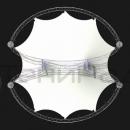 Вид сверху на двухкупольную мембранную конструкцию Дабл Арка