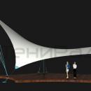 Мембранная конструкция Блейд, фасадный вид.