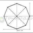 Схема тентового шатра Капелла Окта площадью 122м2 со стороной 5м.