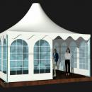 Общий вид тентового шатра Капелла Кварта площадью 25м2 со стороной 5м.