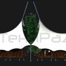 Наклонная мачта на основе пространственной фермы делает конструкцию Карамба изящной и легкой