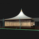 Возможность подвеса боковых стенок дает возможность использовать шатер Кэжуал Квадра в прохладное время, но без снеговой нагрузки