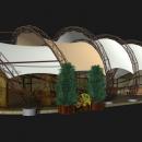 Круассан - арочная мембранная конструкция, напоминающая по форме пышный круассан