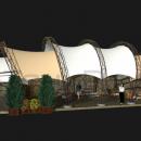 Количество арок в конструкции Круассан зависит от желания заказчика и может варьироваться от трех до десяти