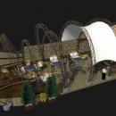 Зазоры между арками в мембранной конструкции Круассан выполняют вентиляционную функцию