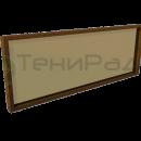Боковое ограждение с прозрачной вставкой из монолитного поликарбоната в деревянном багете. Возможно применение сотового поликарбонат.