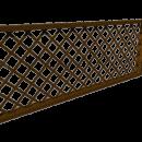 Боковое декоративное ограждение с пергольной решеткой.