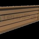 Боковое деревянное ограждение с горизонтальными дощатыми жалюзи.