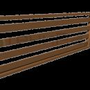 Боковое декоративное ограждение с горизонтальными дощатыми ламелями.