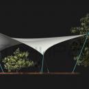 Вид сбоку на мембранную конструкцию Дыхтау
