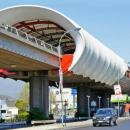 Мембранная оболочка для укрытия станций, остановок, парковок, технологических зон