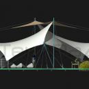 Боковой вид на мембранную конструкцию