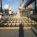 Каркас деревянного подиума для конструкции летней веранды