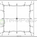 Схема опор и креплений мембранной конструкции