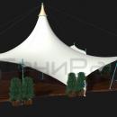 Большая шатровая мембранная конструкция