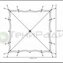 Схема купольного шатра