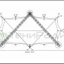 Схема мембранной конструкции Риноцерос. Площадь конструкции 192м2.