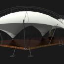 Боковой вид на мембранную конструкцию Риноцерос.