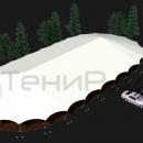 Тентовый павильон архитектурного исполнения Тортуга. Один из вариантов модульной компоновки.