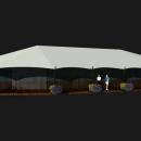 Тентовый павильон архитектурного исполнения Тортуга. Общий изометрический вид.