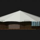 Тентовый павильон архитектурного исполнения Тортуга. Вид сбоку.