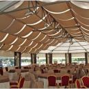 Тентовый павильон Тортуга - отличное решение для всесезонного ресторана или кафе с оптимальным сочетанием архитектуры и практичности. Общий вид внутреннего объема тентового шатра.