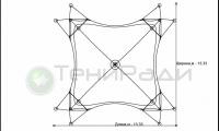 Мембранная конструкция Бас Шатыр, схема конструкции.