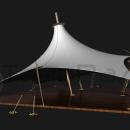 Фиксация шатровой мембранной конструкции серии Корсика